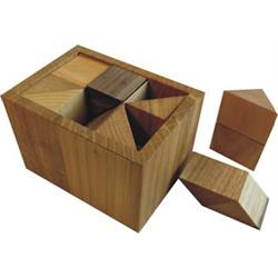 פאזל מעץ תלת מימדי blocked half-cube box