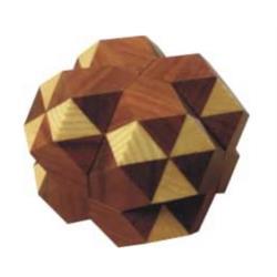 פאזל תלת מימדי מעץ  dual tetrahedron 05