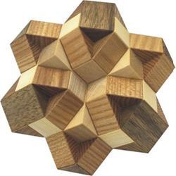 פאזל תלת מימדי מעץ star of david