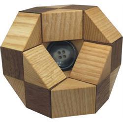 פאזל תלת מימד מעץ button trap