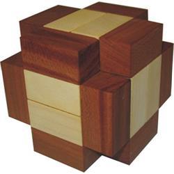 פאזל מעץ קוביה תלת מימדית crosse