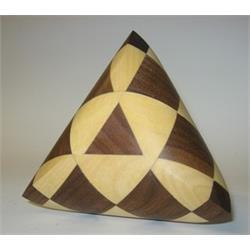 פאזל מעץ יפהפה תלתמימדי tetrahedron 2