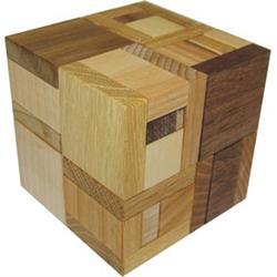 פאזל מעץ פלת מימדי hooked cube