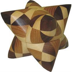 פאזל תלת מימדי מעץ dual tetrahedron 28