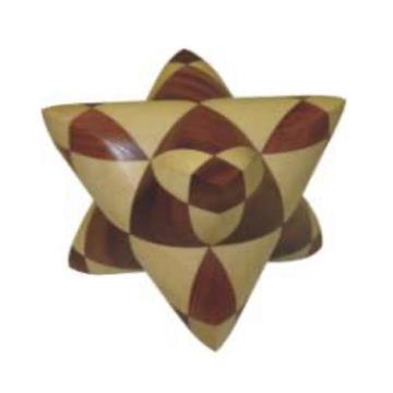 פאזל מעץ תלת מימדי  dual tetrahedron 03